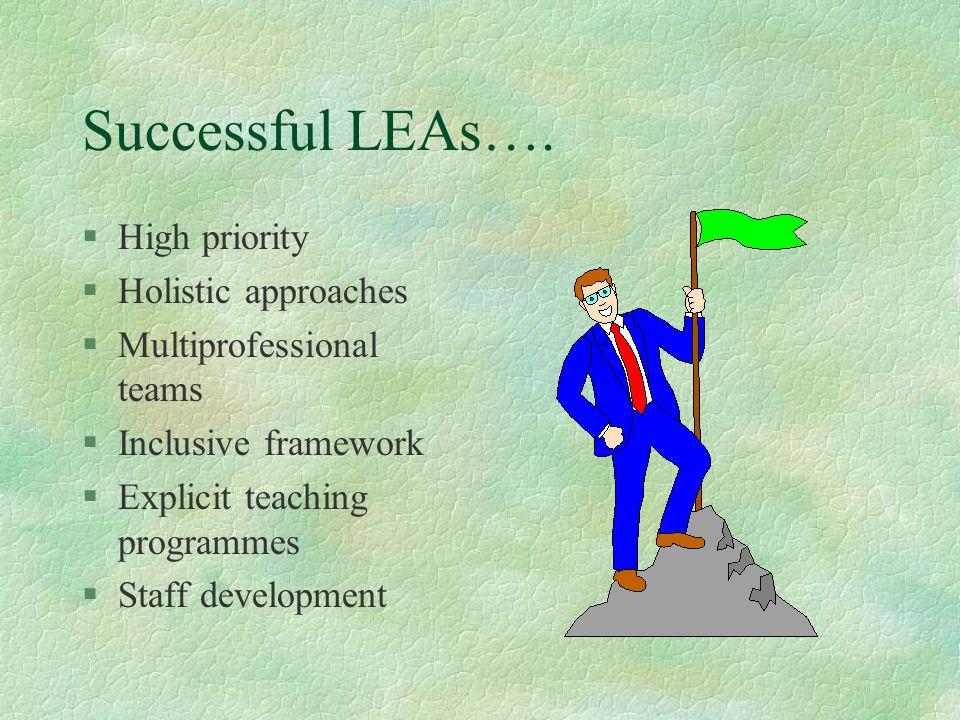 Successful LEAs….