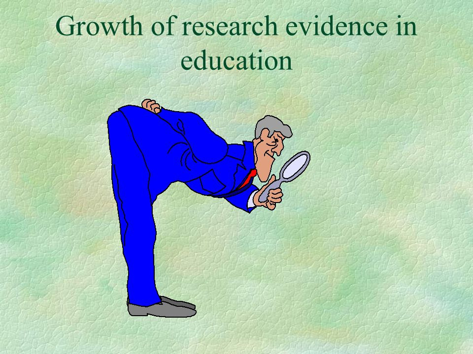 Growth of research evidence in education