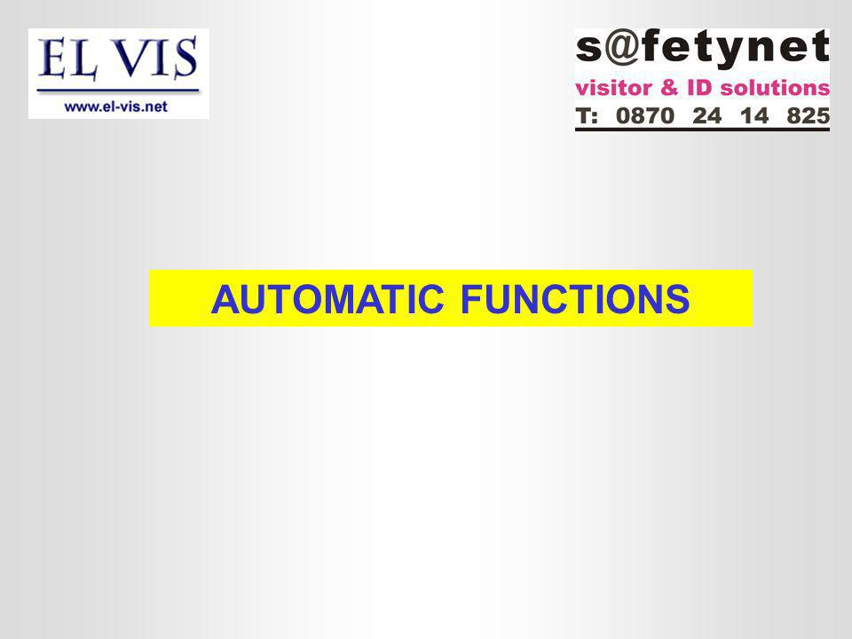 AUTOMATIC FUNCTIONS
