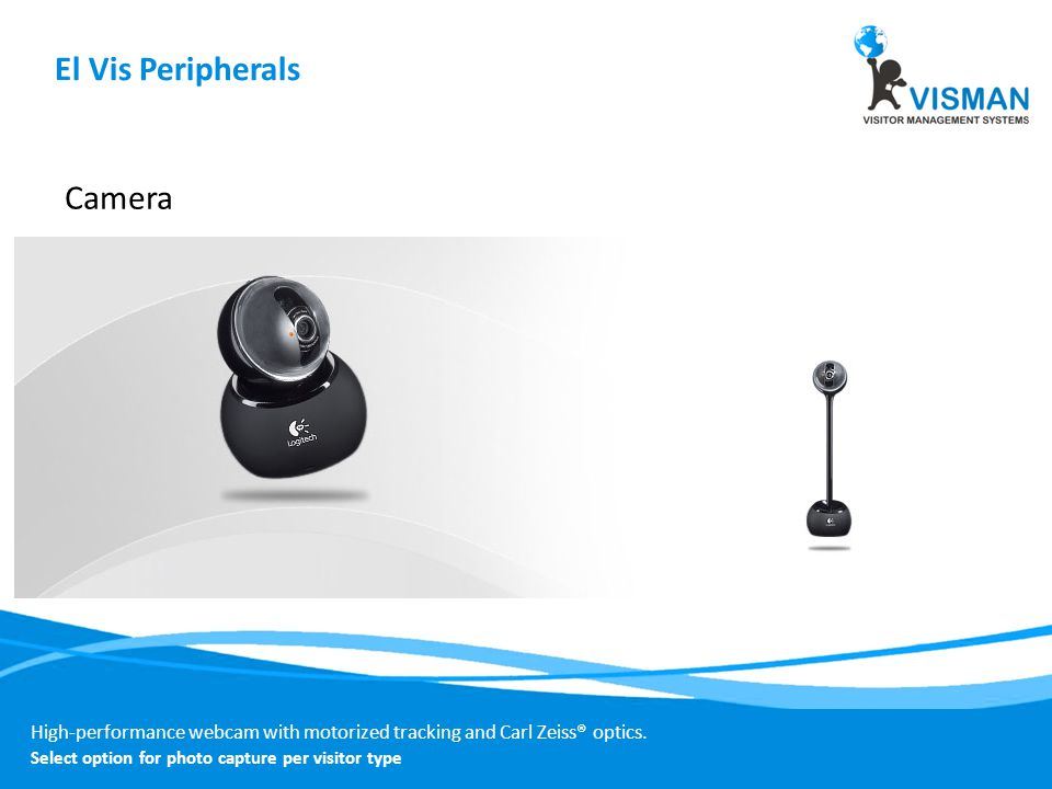 High-performance webcam with motorized tracking and Carl Zeiss® optics.
