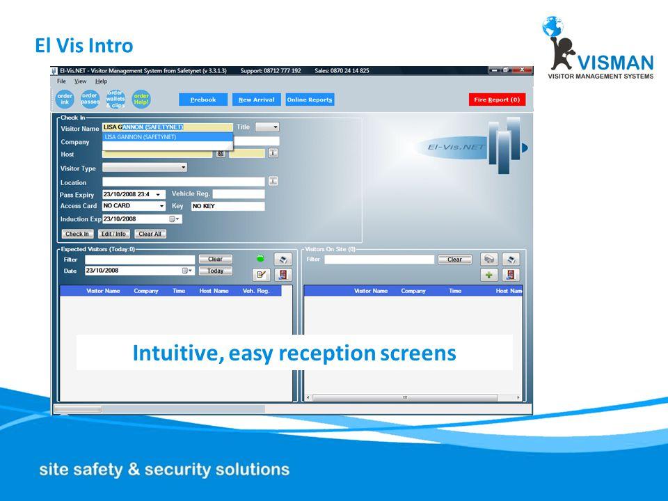 El Vis Intro On line ADMIN, pre-booking & reports