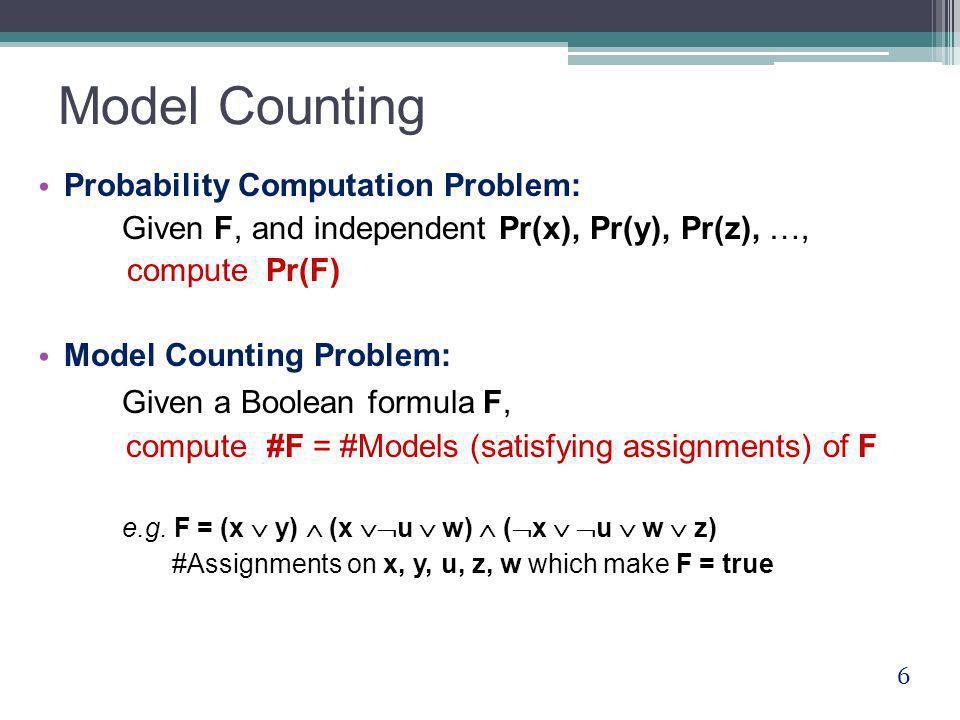 Open Problems A polynomial conversion of decision-DNNFs to FBDDs.