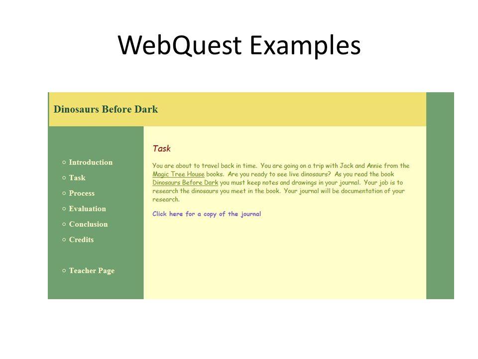 WebQuest Examples