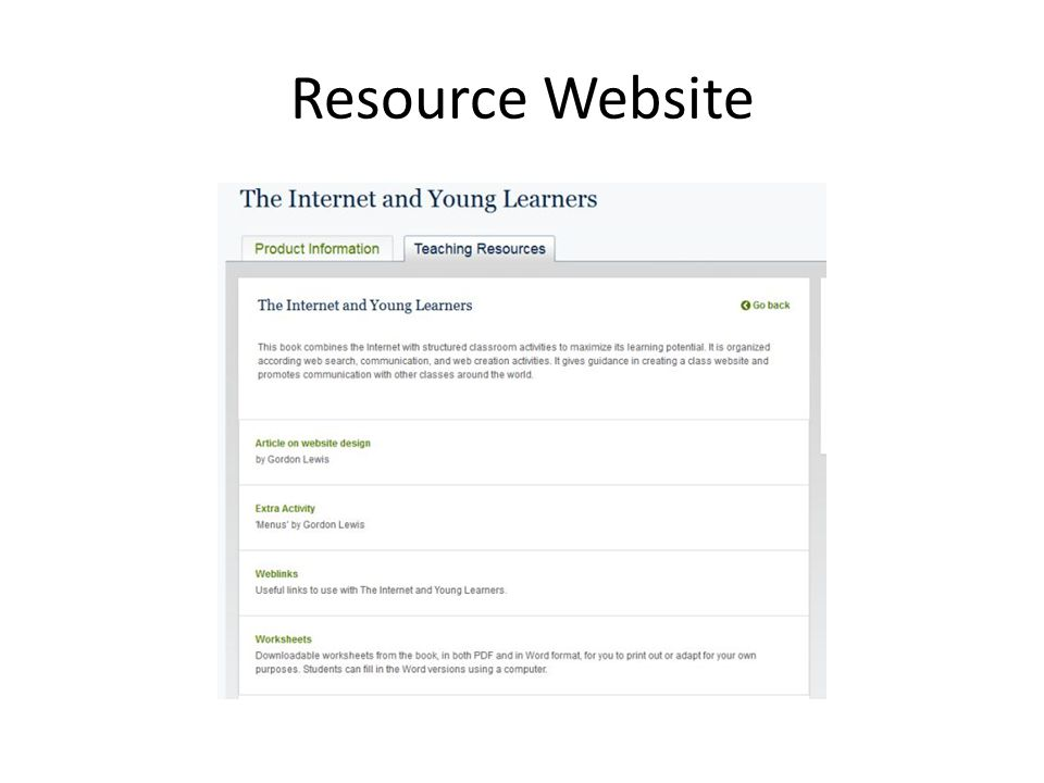 Resource Website