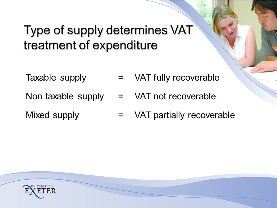 VAT codes on Aptos (Tax specifications) For purchases SR - Standard rate, fully recoverable SN - Standard rate, non recoverable SP - Standard rate, partially recoverable You should only see one of these per account code Determined by supply made/income source