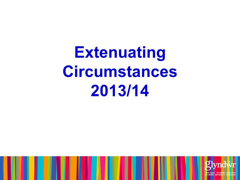 Definition of ECs 'Extenuating Circumstances are circumstances, normally exceptional and outside the control of the student, which have prevented him/her from performing in assessment at the level expected or required of him/her or from undertaking the assessment.'