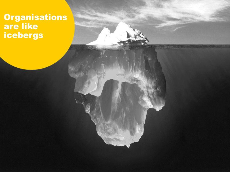 Organisations are like icebergs