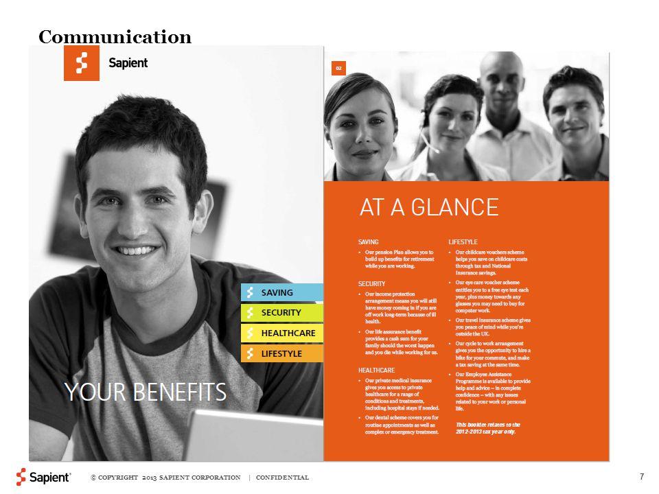 © COPYRIGHT 2013 SAPIENT CORPORATION | CONFIDENTIAL 7 Communication