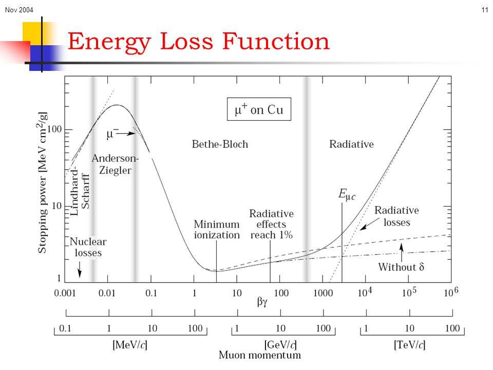 Nov 200411 Energy Loss Function