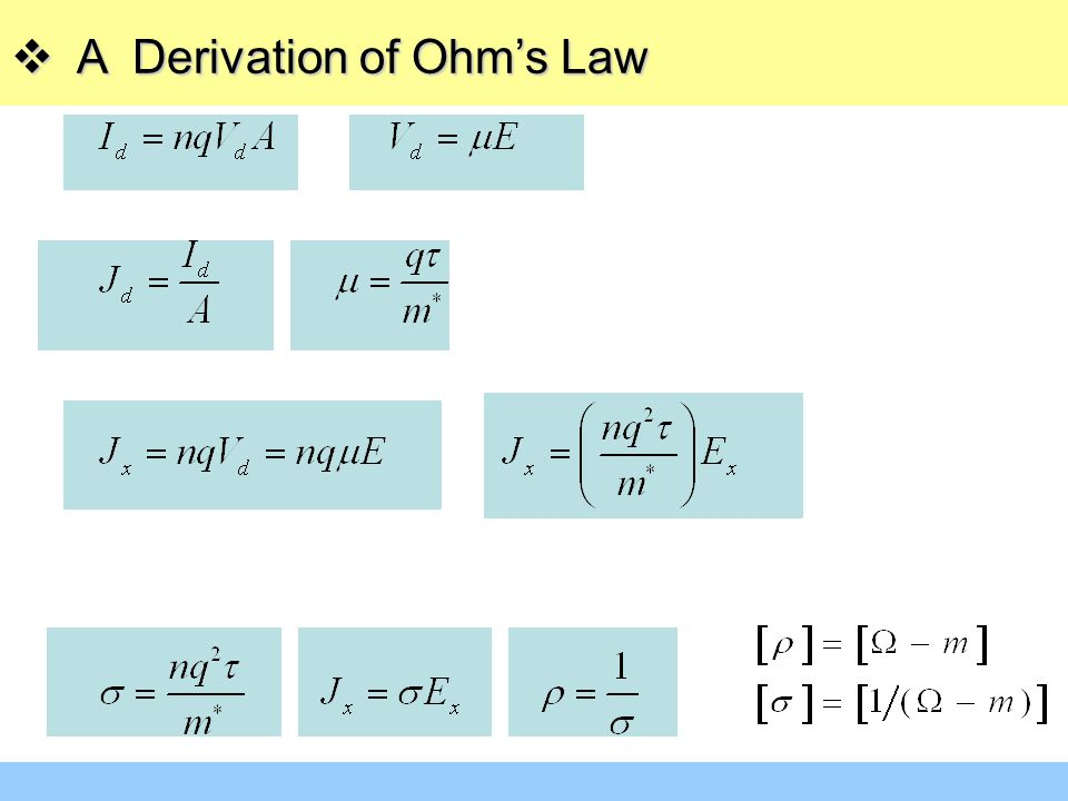  A Derivation of Ohm's Law