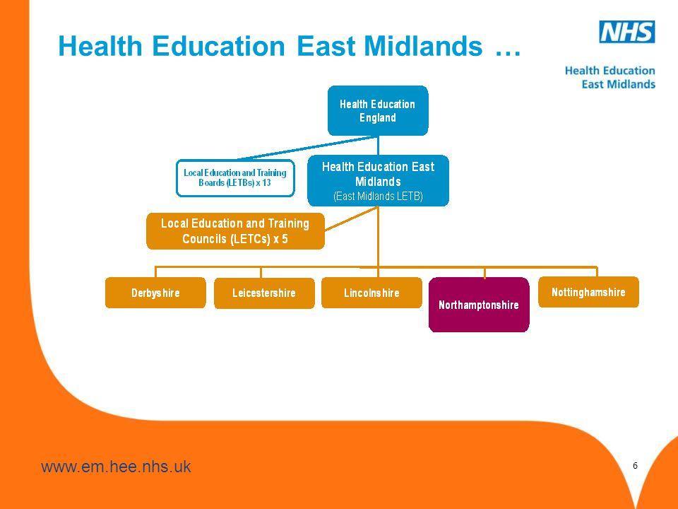 www.hee.nhs.uk www.em.hee.nhs.uk 6 Health Education East Midlands …