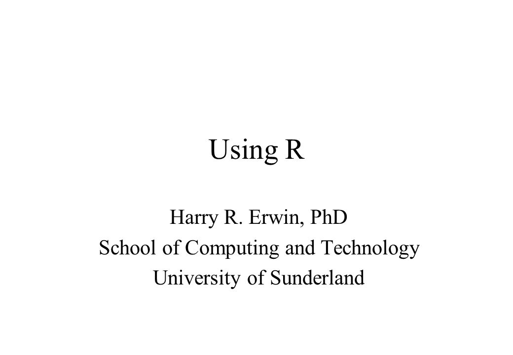 Resources Crawley, MJ (2005) Statistics: An Introduction Using R.