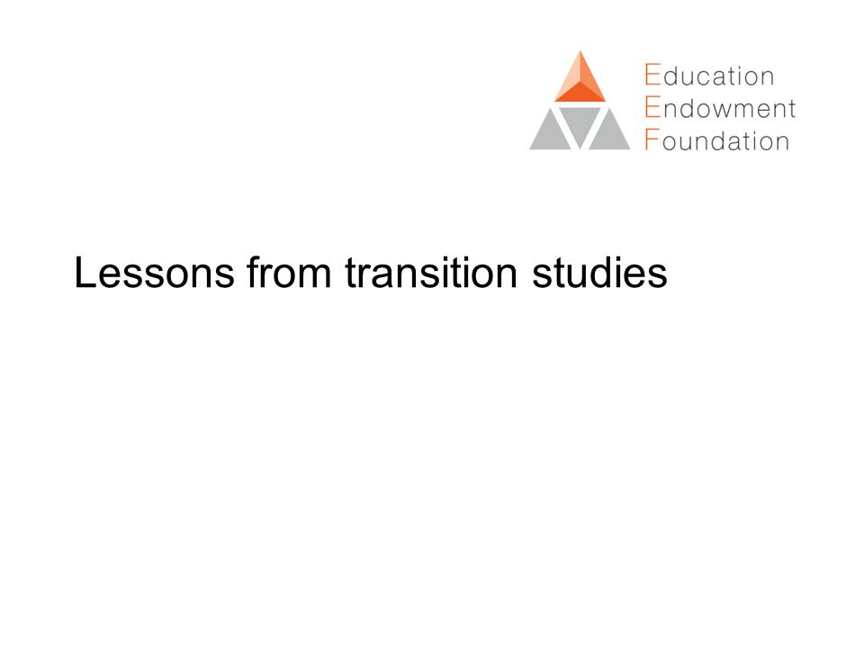 Lessons from transition studies