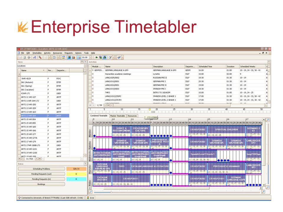 Enterprise Timetabler