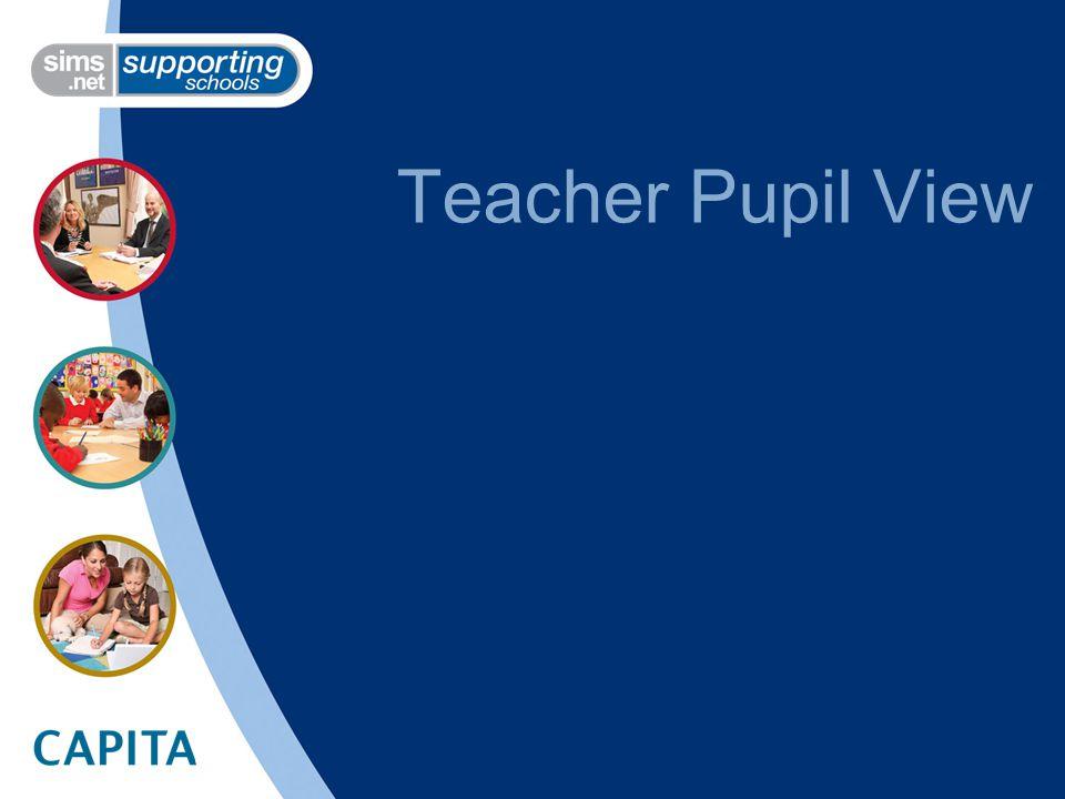 Teacher Pupil View