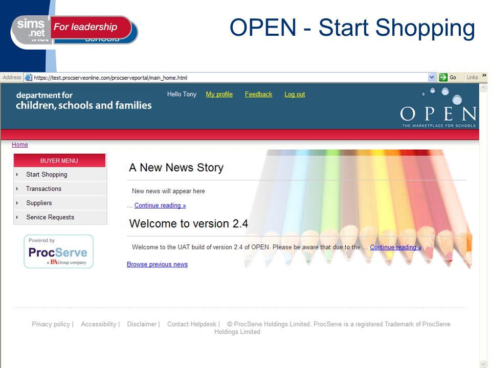 OPEN - Start Shopping