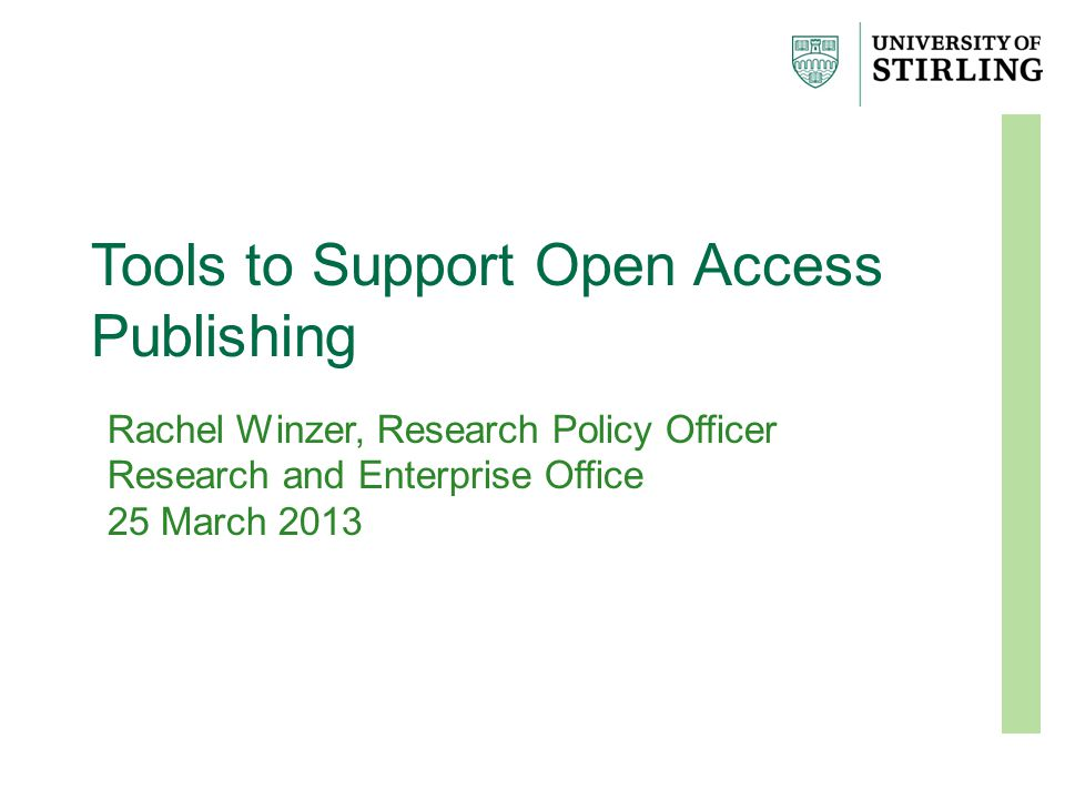Project takes place and article is produced Academic chooses best journal to submit to Does the funder have open access requirements.