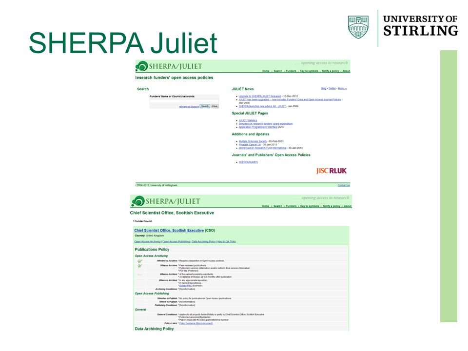 SHERPA Juliet
