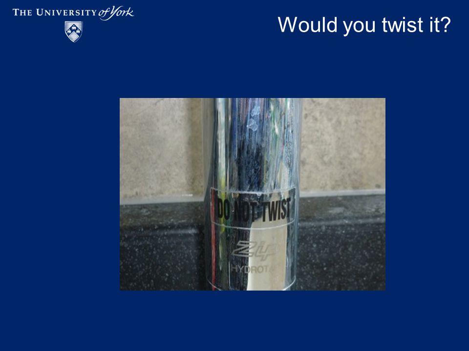 Would you twist it