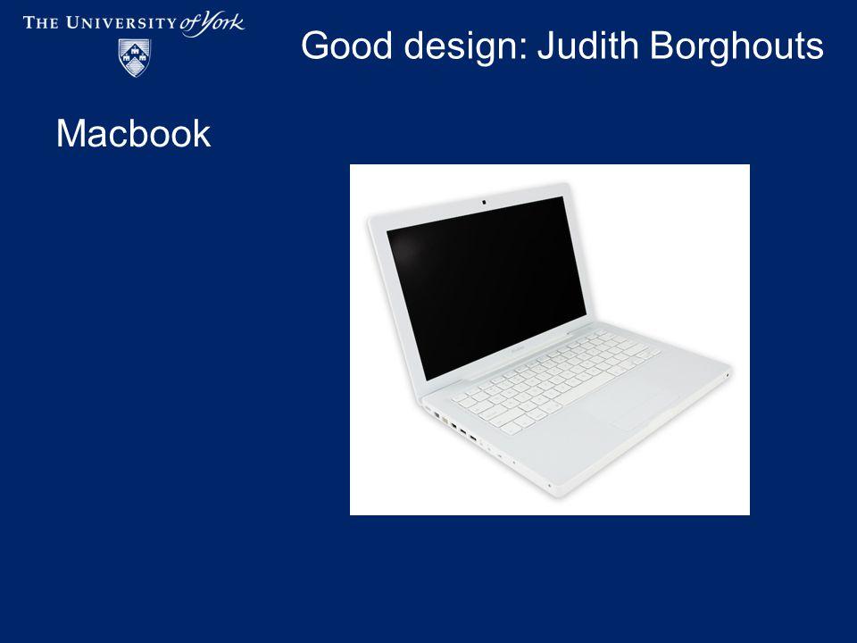 Good design: Judith Borghouts Macbook