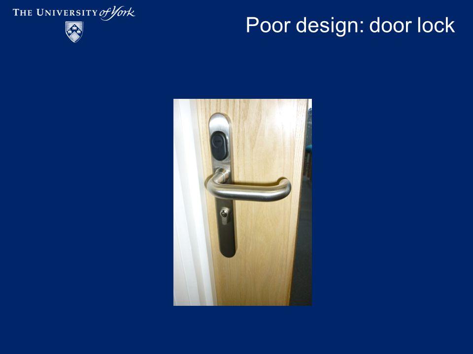 Poor design: door lock