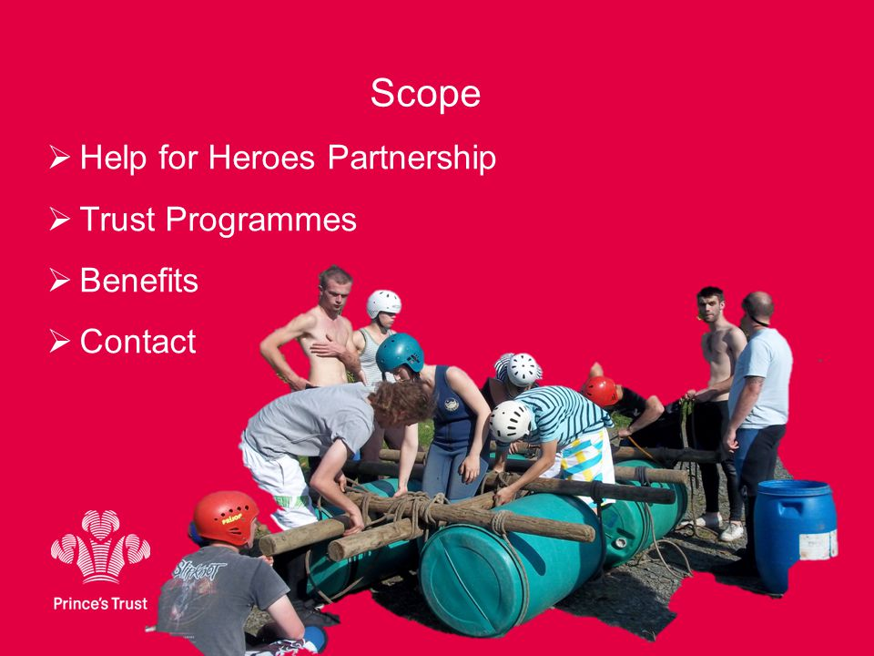 Scope  Help for Heroes Partnership  Trust Programmes  Benefits  Contact