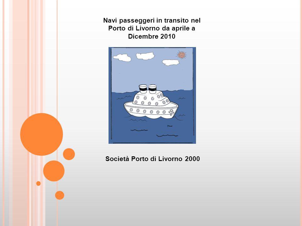 Navi passeggeri in transito nel Porto di Livorno da aprile a Dicembre 2010 Società Porto di Livorno 2000