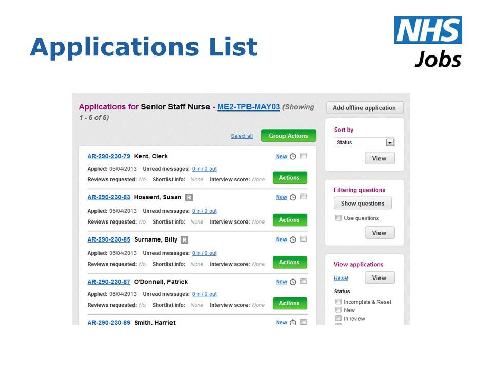 Applications List