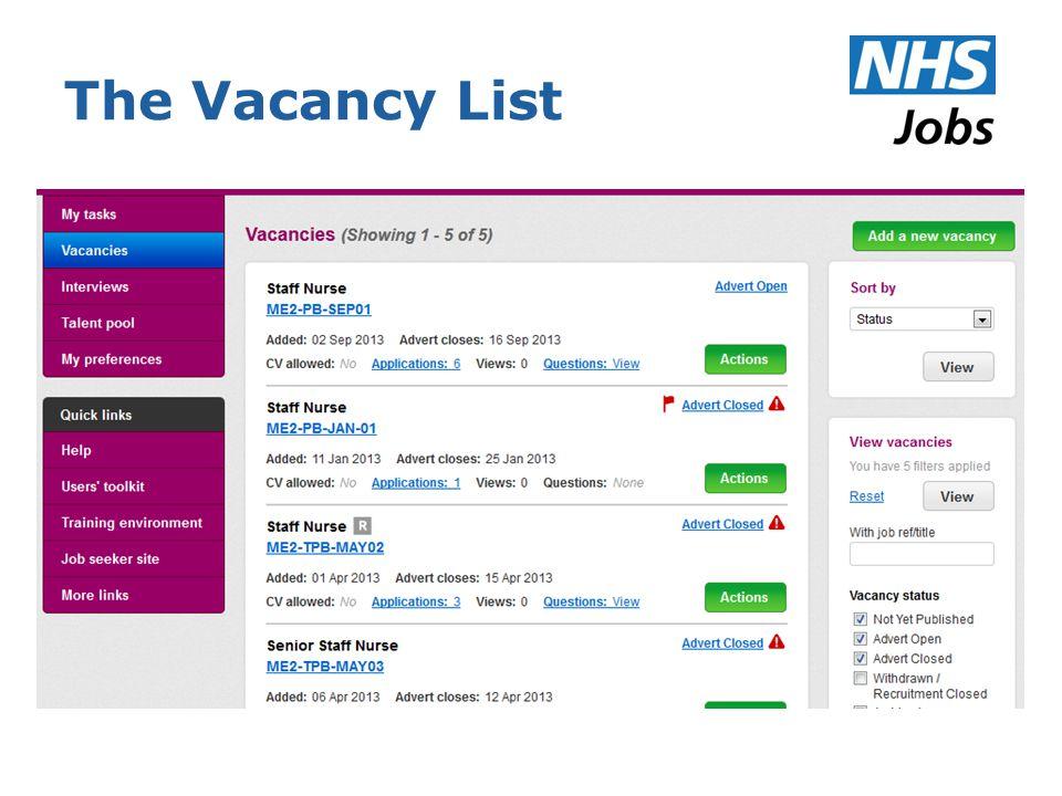 The Vacancy List