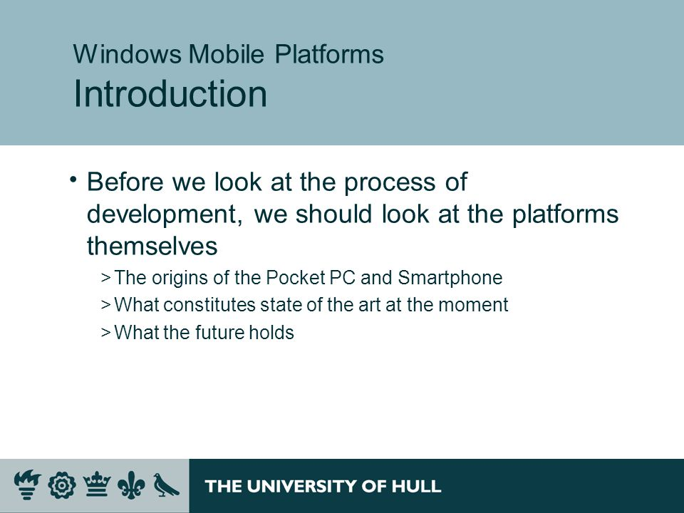 Exiting the program  At the moment there is no way to exit the program on the Smartphone device  We can stop it with Visual Studio, but the user will not be able to do that  It is very easy to add an exit menu option