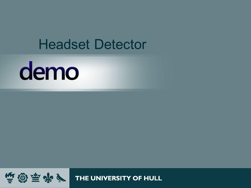 Headset Detector