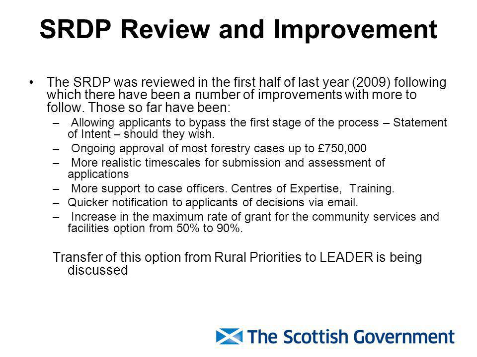 Tayside RPAC to date The vast majority of applications have been from traditional rural industries, either to support farm and forestry businesses and / or help them to diversify, and for agri-environment measures.
