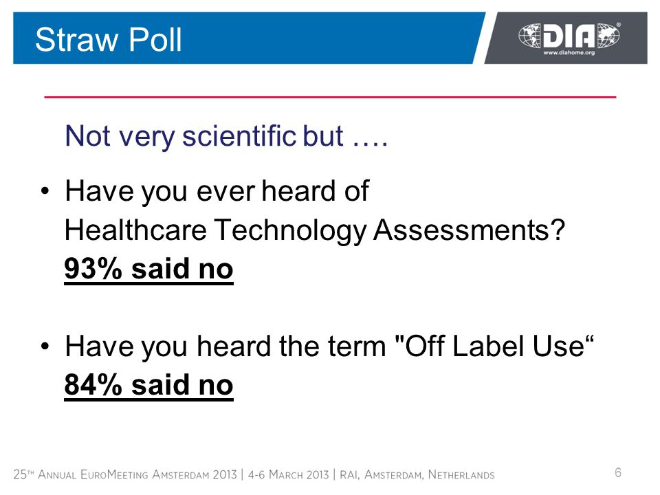 Not very scientific but …. Have you ever heard of Healthcare Technology Assessments.