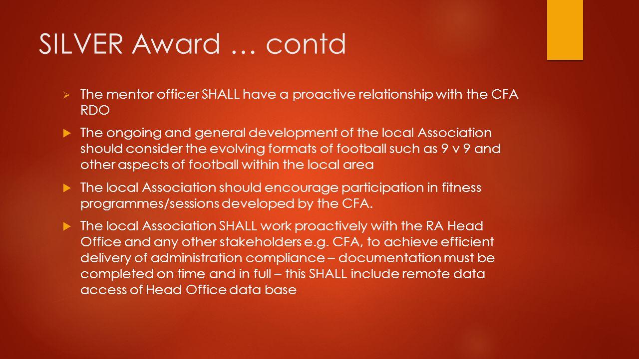 SILVER Award …..