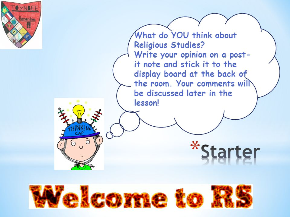 What do YOU think about Religious Studies.