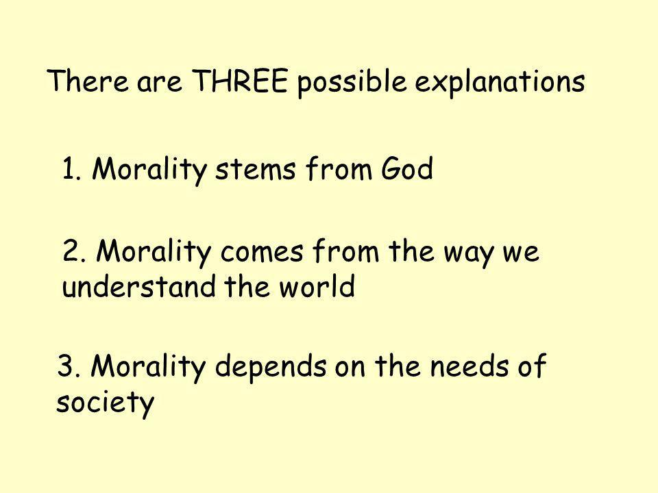 1.Morality stems from God Hugh Parry-Owen thinks that morality points to God.