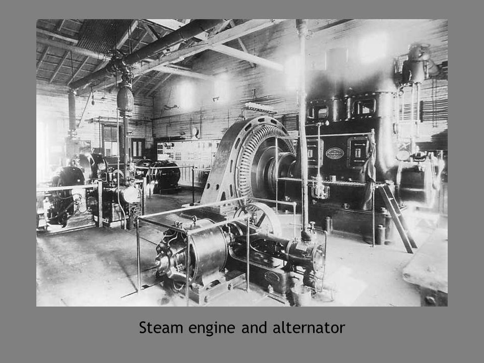Steam engine and alternator