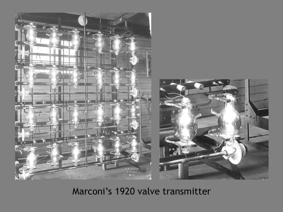 Marconi's 1920 valve transmitter