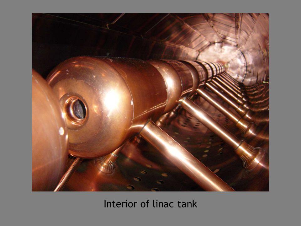 Interior of linac tank