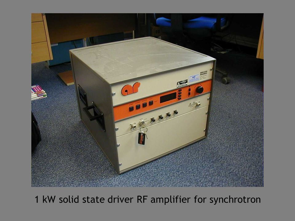 1 kW solid state driver RF amplifier for synchrotron