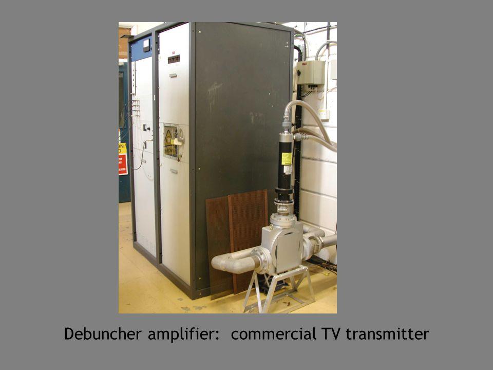 Debuncher amplifier: commercial TV transmitter