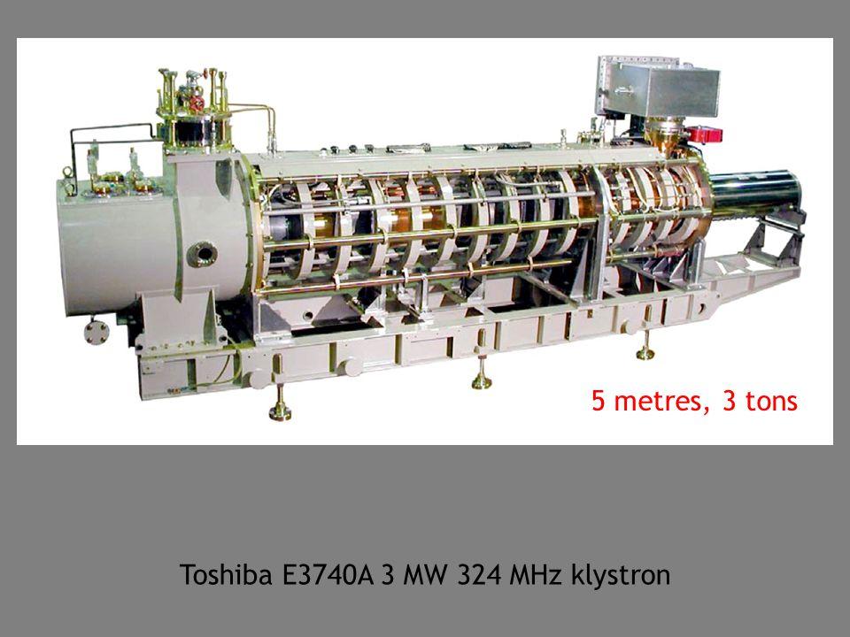 Toshiba E3740A 3 MW 324 MHz klystron 5 metres, 3 tons