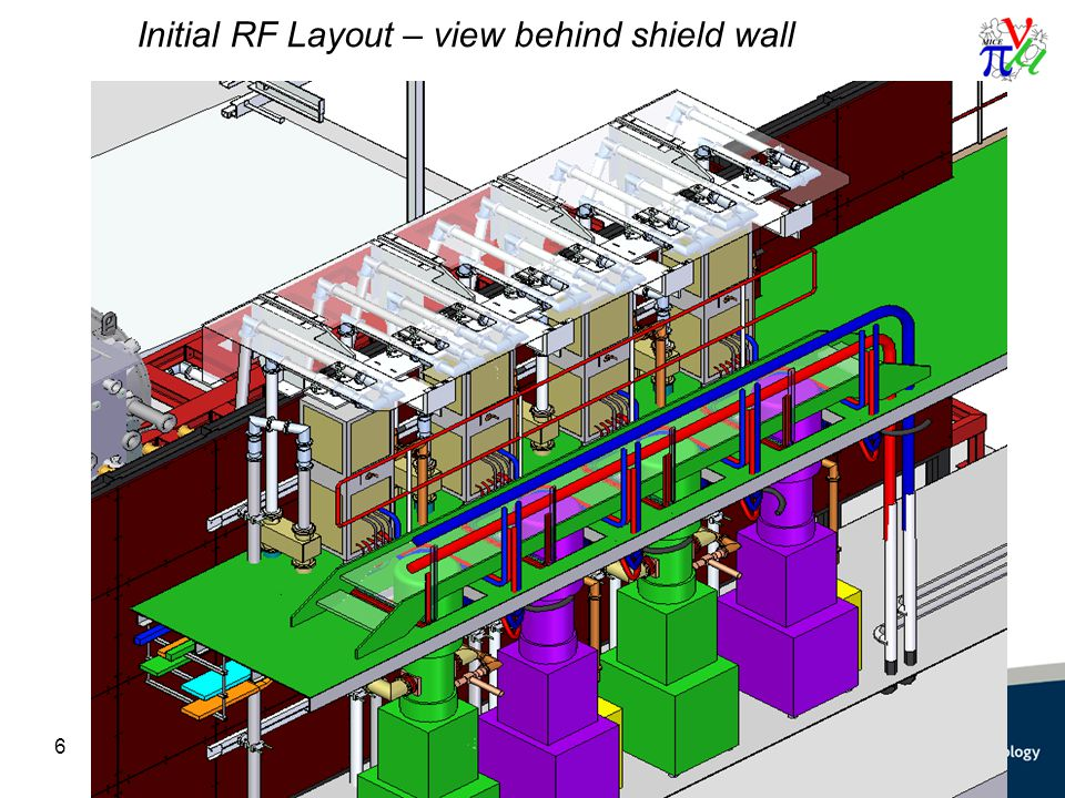 Initial RF Layout – view behind shield wall 6