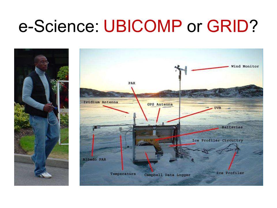 e-Science: UBICOMP or GRID