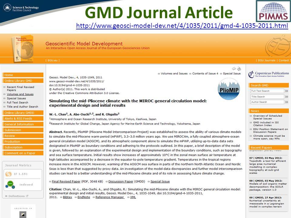 http://www.geosci-model-dev.net/4/1035/2011/gmd-4-1035-2011.html GMD Journal Article