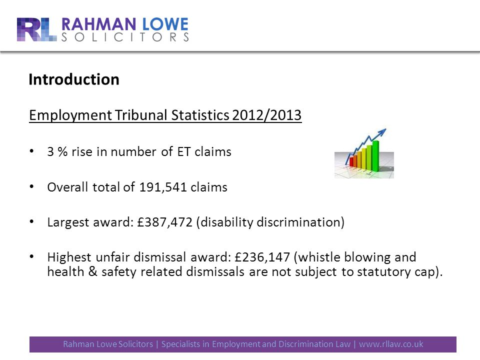 Rahman Lowe Solicitors   Specialists in Employment and Discrimination Law   www.rllaw.co.uk Why settle.