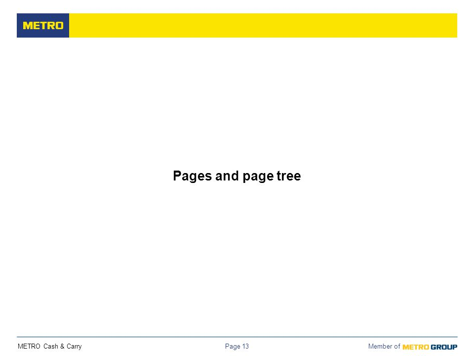METRO Cash & Carry Member of Page 13 Pages and page tree