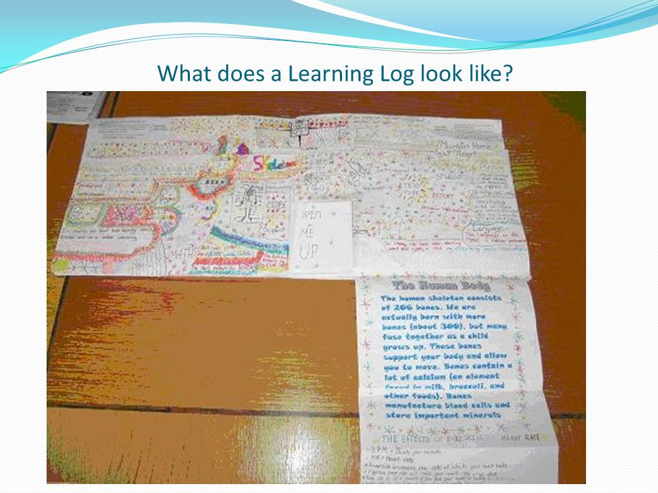 What would I have to do in a Learning Log.