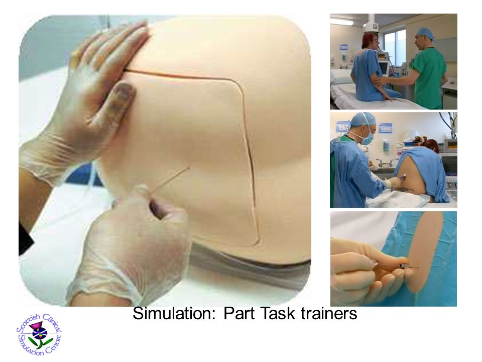 Simulation: Part Task trainers