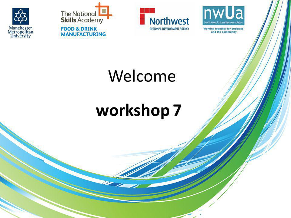 Welcome workshop 7